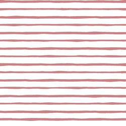 Artisan Stripe in Berry on White