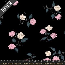 Steno Roses in Black