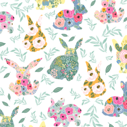 Floral Bunnies in Frolic