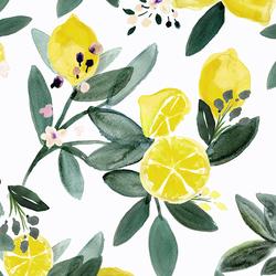 Large Lemon Grove in White