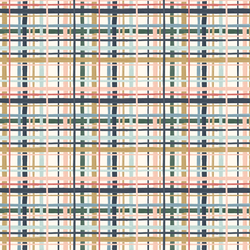 Watercolor Plaid in Ivory
