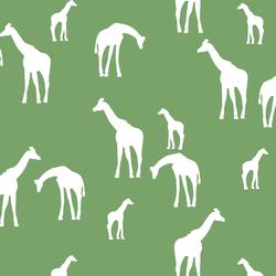 Giraffe Silhouette in Pistachio