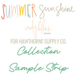 Summer Sunshine Sample Strip