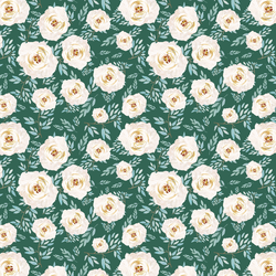 Heritage Rose in Moss Green