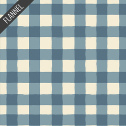 Plaid of my Dreams Flannel in Sky