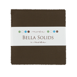 Bella Solids Charm Pack in Brown