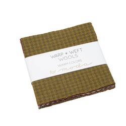 Warp and Weft Wools Charm Pack in Warm Colors