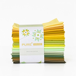 Pure Solids Fat Quarter Bundle in Sprouting