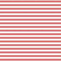 Horizontal Dress Stripe in Poppy