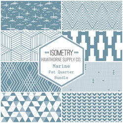 Isometry Fat Quarter Bundle in Marine