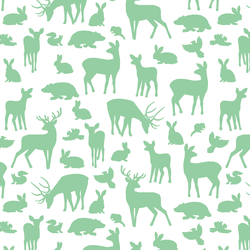 Forest Friends in Sprout on White