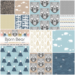Bjorn Bear Fat Quarter Bundle in Vinter