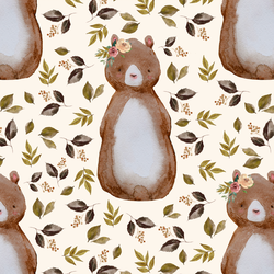 Autumn Bear in Soft Ivory