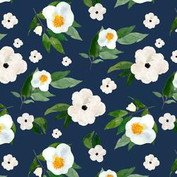 Large Spring Blooms in Navy