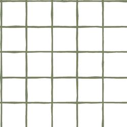Windowpane in Olive on White