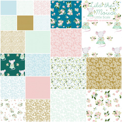 Lila the Mouse Fat Quarter Bundle Little Scale