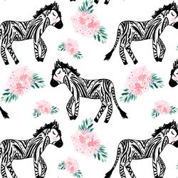 A Zebra Garden in Pink