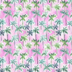 Palm Forest in Orchid Pink