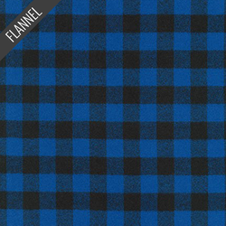 Mammoth Two Check Plaid Flannel in Blue