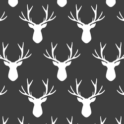 Stag Silhouette in Onyx