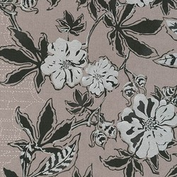 Floral Single Border in Pewter Pearlized