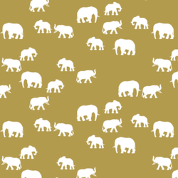 Elephant Silhouette in Gold