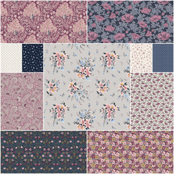 The Winterbourne Collection Fat Quarter Bundle in Lyrical