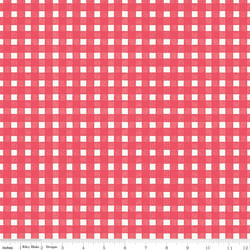 Gingham in Coral