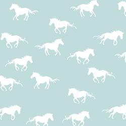 Horse Silhouette in Glacier Blue