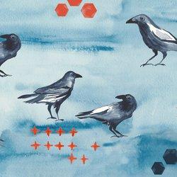 Blackbird in Blue Sky