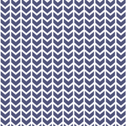 Broken Chevron in Indigo