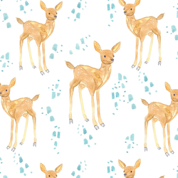 Large April Fawn in White