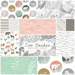 Zoo Garden Fat Quarter Bundle in Garden