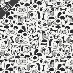 Woofin Around Knit in White