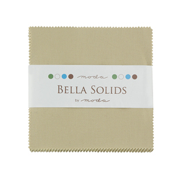 Bella Solids Charm Pack in Tan