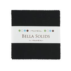 Bella Solids Charm Pack in Black