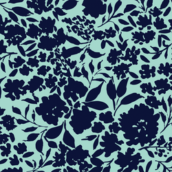 Large Tonal Floral in Cool Breeze