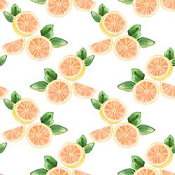Citrus Slices in White