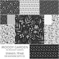 Moody Garden Fat Quarter Bundle in Moody Grays
