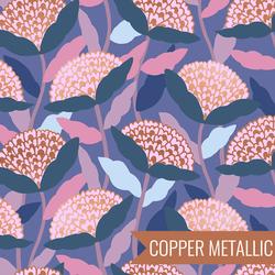 Flower Dreams in Metallic Twilight