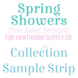 Spring Showers Sample Strip