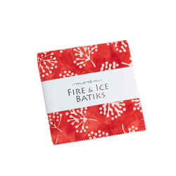 """Fire and Ice Batiks 5"""" Square Pack"""
