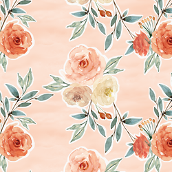 Ardent Floral in Barely Blush Wash