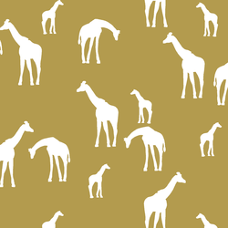 Giraffe Silhouette in Gold