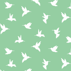 Hummingbird Silhouette in Sprout