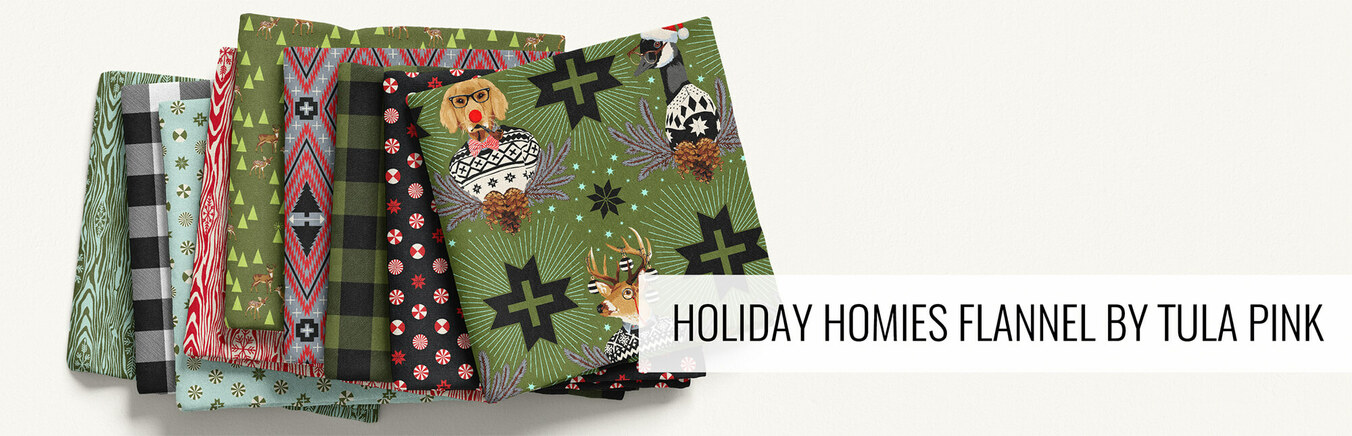 Holiday Homies Flannel by Tula Pink
