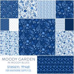 Moody Garden Fat Quarter Bundle in Moody Blues