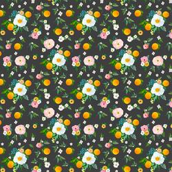 Small Orange Blossoms in Onyx