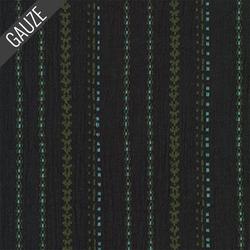 Athena Gauze Yarn Dye in Black