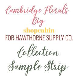 Cambridge Florals Sample Strip Big